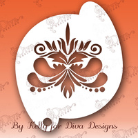 Diva - Flourish Headpiece #3 Stencil