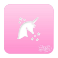 Silly Farm Pink Power Stencil Unicorn 1005