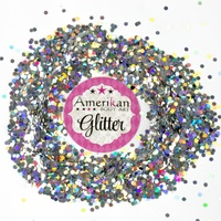 Chunky Glitter - Silver Holographic Dots 1oz Bag