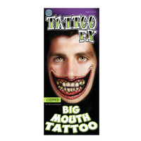 Big Mouth Temporary Tattoos -  Chipped