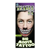Big Mouth Temporary Tattoos -  Chompers
