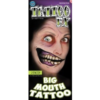 Big Mouth Temporary Tattoos - 2 Faced