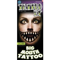 Big Mouth Temporary Tattoos - Cheshire