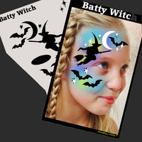 Show Offs Profile Stencil Batty Witch