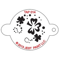 TAP014 Shamrock Face Painting Stencil