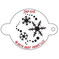 TAP015 Snowflakes Face Painting Stencil