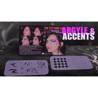 Argyle & Accents Face Painting Stencils - Graffiti Eyes Booster Pack