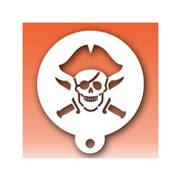 Diva - Jolly Roger with Swords & Hat Stencil