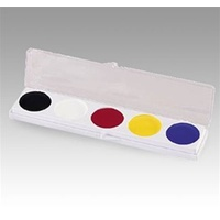 Mehron 5  colour clown grease makeup palette