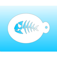 MiniM Skeleton Fish Stencil