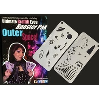 NEW* Outer Space Face Painting Stencils - Graffiti Eyes Booster Pack