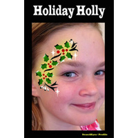 Show Offs Profile Stencil Holiday Holly