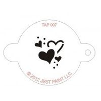 TAP007 Hearts Face Painting Stencil