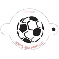 TAP020 Soccer Ball Face Painting Stencil