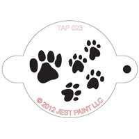 TAP 023 Paw Prints Face Painting Stencil