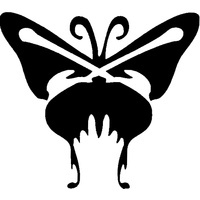 BUTTERFLY ONE Glitter tattoo stencil (5 pack)