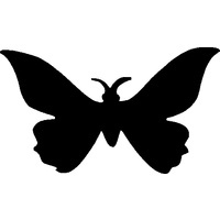 BUTTERFLY TWO Glitter tattoo stencil (5 pack)