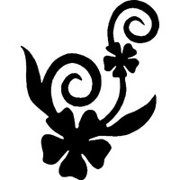 FLOWER DANCING Glitter tattoo stencil (5 pack)