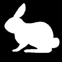 SITTING BUNNY Glitter Tattoo Stencils (5 pack)