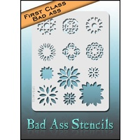 BAD ASS First Class Stencil - SFBA4012 3 Layer Flower