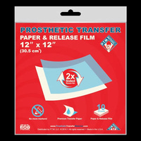 "Prosthetic Transfer Paper & Release Film (12"" x 12"") 10 pack"