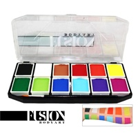 Fusion Body Art Sampler Palette 12 x 7g Prime Colours