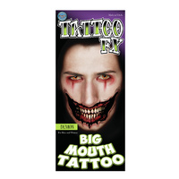 Big Mouth Temporary Tattoos -  Demon