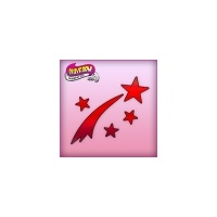 Silly Farm Pink Power Stencil Shooting star 1018