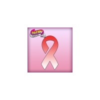 Silly Farm Pink Power Stencil Awareness Ribbon 1037