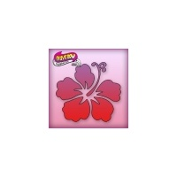Silly Farm Pink Power Stencil Hibiscus 1024