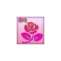 Silly Farm Pink Power Stencil Rose 1031