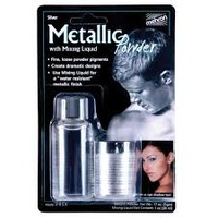 Mehron SILVER metallic powder (5g) with mixing liquid (30ml)