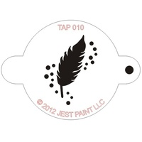 TAP010 Feather Face Painting Stencil