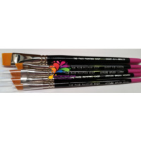 The Face Painting Shop Angled Brushes [ Size : Large 11mm ]
