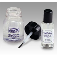 Mehron Fixative A Sealer - 1oz  with brush
