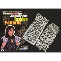 NEW* Fashion Patterns Face Painting Stencils - Graffiti Eyes Booster Pack