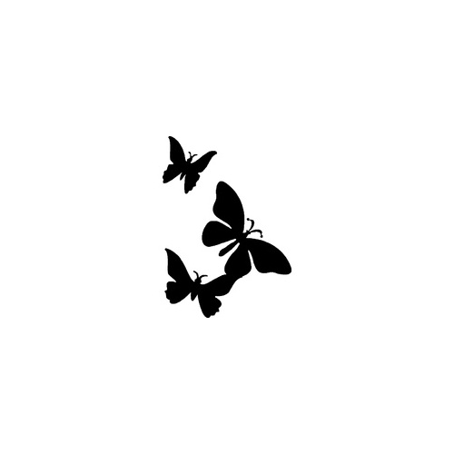 TRIPLE BUTTERFLY Glitter tattoo stencil (5 pack)