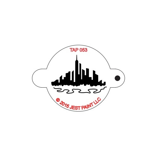 TAP053 City Skyline Face Painting Stencil